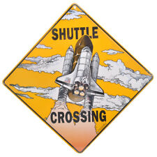 NEW Space Shuttle Rocket Launch Kids Boys Crossing Road Sign
