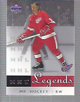 2001-02 Upper Deck Legends Hockey Card Pick