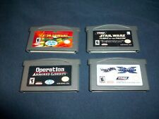 (4) Gameboy Advance Games - GBA - KIDS LOT - STAR WARS - HOT WHEELS