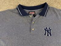 Stitches New York Yankees Team Logo Polo Mens Size Large Embroidered MLB Genuine