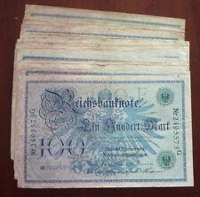 Lot von 50 x 100 Mark Kaiserreich