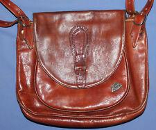 Vintage Brown Leather Womens Shouder Bag