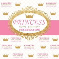 6x6ft Vinyl Princess Royal Birthday Photography Background Backdrop Photo Studio