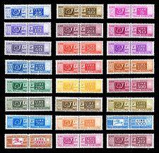 ITALIA 1955 1973 Pacchi Postali completa 24v. fil. stelle MNH ** Integri