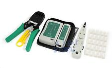 LAN Phone Data Network TOOL KIT+Modular Plug+Cable Tester RJ45 RJ11 RJ12 Cat5e 6