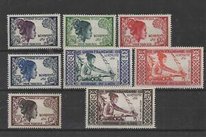 LAOS , 1952, SG13/17 & SG19/21 , MH    CV £16.00+