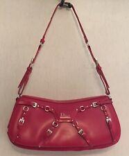 Auth DIOR Lovely Red Shoulder Bag / Handbag Leather Small