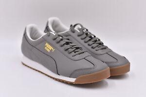 Men's Puma Roma Classic Gum Athletic Running Sneakers, Grey, 11