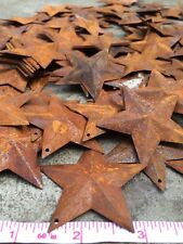 "(150) 2.5 in 2 1/4"" 64mm Dimensional Rusty Barn Stars Metal Rust Country Craft *"