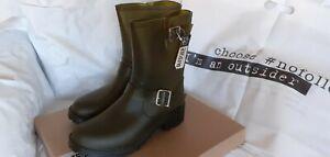 "neu: ""67"" Gummistiefel 41 oliv Rubber Boots v. SIXTYSEVEN semitransp. OUTSIDER"