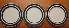 "Vintage MCM Arabia Finland Cobalt Anemone 10"" Plate Set Of 3"