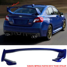 Fits 15-18 Subaru WRX STI OE Style Painted #K7X Wr Blue Pearl Trunk Spoiler Wing