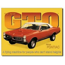 Sign - GTO Pontiac - A Flying Machine Novelty Auto Car Sign Man Cave Garage Shed
