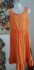 Juicy Couture Orange Cotton/Modal Summer Dress Age 8 Years Mint Condition