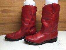 VTG WOMENS PECOS BILL WESTERN ROPER RED BOOTS SIZE 5.5 B