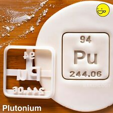 Plutonium Element Cookie Cutter | Halloween nuclear science radioactive periodic