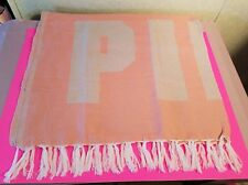 "Victoria's Secret Pink Logo Fringe Festival Beach Blanket 50"" x 60"" Coral Nip"