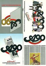 90° DELL'AVANTI 1896/1986 PSI - Serie di 4 cartoline Design E. Vitale