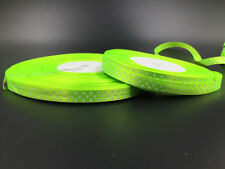 New 10 Yards 3/8 10mm Polka Dot Ribbon Satin Craft Supplies  Fluorescent green