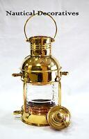 Brass Cargo Ship Railroad Oil Kerosene Burner Lantern Lamp Brass Oil Lamps Decor