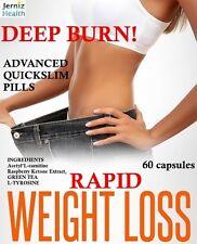 RAPID DEEP BURN Raspberry Ketone plus Advanced Fat Burner Slimming Diet Pills