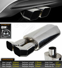 UNIVERSAL PERFORMANCE FREE FLOW STAINLESS STEEL EXHAUST BACKBOX YFX-0730  MRC1