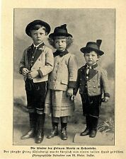 Kinder des Prinzen Moritz zu Hohenlohe Prinz Chlodwig u.Geschwister Tracht 1900