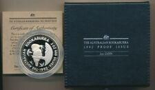 Australia: 1992 $2 2oz Silver Kookaburra Proof, Scarce
