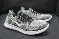 Nike Free Run Rn Flyknit Oreo Running Shoes White/Black Mens Size 7.5 880843-003
