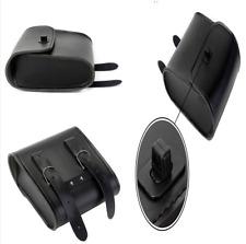 Durable PU Leather Motorcycle Front Handlebar Side Tool Bag Luggage Saddle Bags