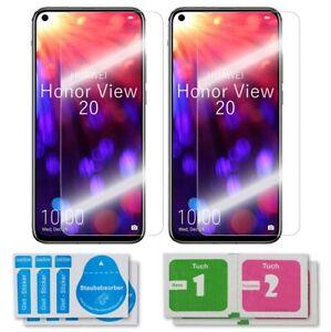 2x Huawei Honor View 20 Schutzglas 9H Echtglas Panzerfolie Displayschutz