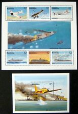 DOMINICA WWII STAMPS SHEETS MNH 1995 5OTH ANV. PEACE IN PACIFIC STAMPS AIRCRAFT