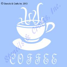"4"" COFFEE STENCIL TEMPLATE STENCILS CUP PAINT TEMPLATES SCRAPBOOK CRAFT ART NEW"