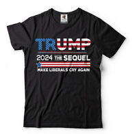 Donald Trump President T-shirt Funny 2024 Elections Make Liberals Cry Again Tees