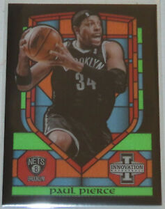 2013/14 Paul Pierce Nets Panini Innovation Stained Glass Insert Card #33 Mint