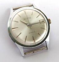 60s Rare Soviet Watch WOSTOK 18 jewels Cal 2214 Date Calendar Mechanical USSR
