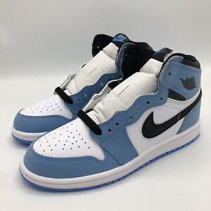 Nike Air Jordan 1 Retro High OG University Blue AQ2664 134 PS Size 2.5-3Y