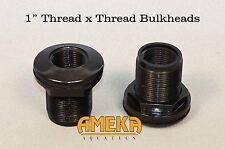 "1"" Bulkhead Fitting Thread X Thread Aquarium Pond High Quality by CPR Aquatic"