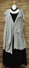 ZUZA BART*DESIGN BEAUTIFUL HAND MADE PURE  KNIT LINEN VEST**GREY** L-XL-XXL