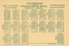 Snappigram Postcard from Walker House Hotel TORONTO Ontario Canada 1901-07