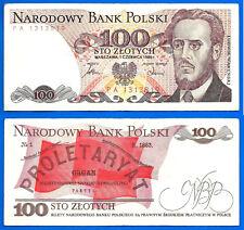 Poland 100 Zlotych 1986 Pologne Europe Prefix Pa Skarbnik Free Shiping World