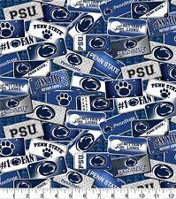 Penn State University Psu License Plates Cotton Fabric 1/2 Yard Diy Face Mask