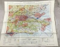 1969 Vintage Militare Map Sud East Inghilterra UK Topographical il Grafico Raf