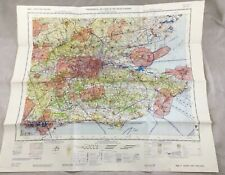 1969 Vintage Military Map of South East England UK Topographical Chart RAF