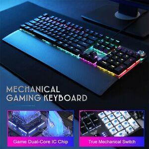 AULA F2088 Russian Punk Keycap Blue/Brown Switch Mechanical Gaming Keyboard