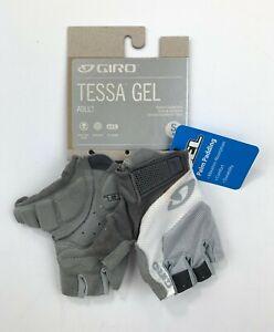 Giro Tessa Gel Women's Cycling Gloves White / Gray Size Small New