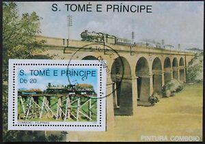 "Sao Tome e Principe: Michel Block-Nr. 211 ""Dampfloks"" aus 1989, gestempelt"