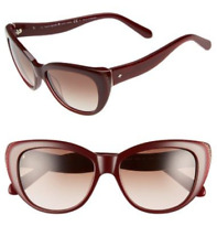 2f7eb62727d7 Kate Spade Emalee s Brown Gradient Lens Russet Red Cat Eye UV Sunglasses W  Case