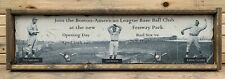Antique Style Fenway Park Red Sox 1912 Opening day Ad Wooden Sign Display !! WOW