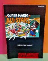 Super Mario All Stars  - SNES Super Nintendo - Instruction MANUAL ONLY - No Game